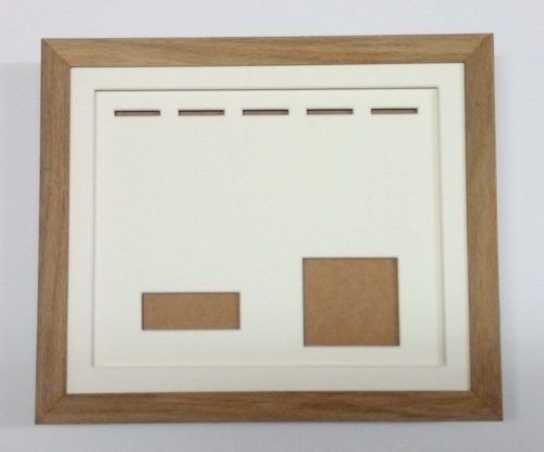 five medal frame with cap badge insert